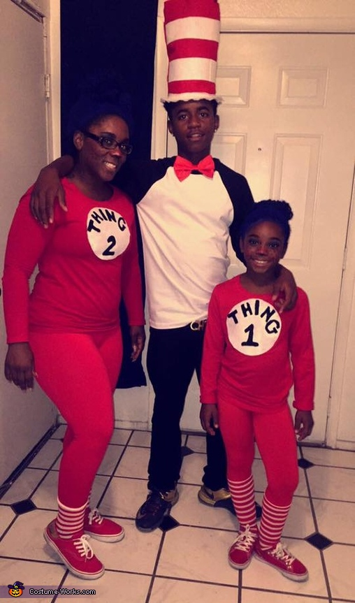 Thing 1, Thing 2 and the Cat in the Hat Costume