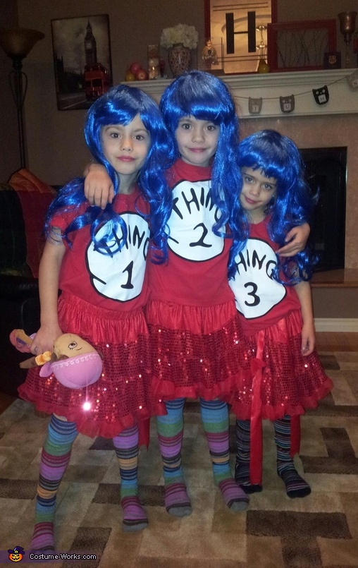 thing 1 thing 2 thing 3 costume - Thing 1 Thing 2 Halloween Costume