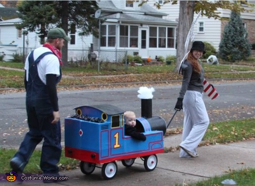 trick-or-treating around the neighborhood!, Thomas & Friends Costume
