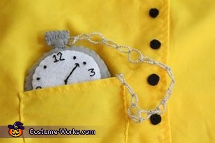 His costume was handstitched right down to the pocket watch, Thomas & Friends Costume