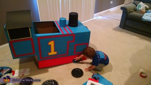 Thomas the Tank Engine Homemade Costume