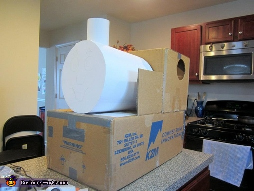 DIY Thomas the Tank Engine Costume