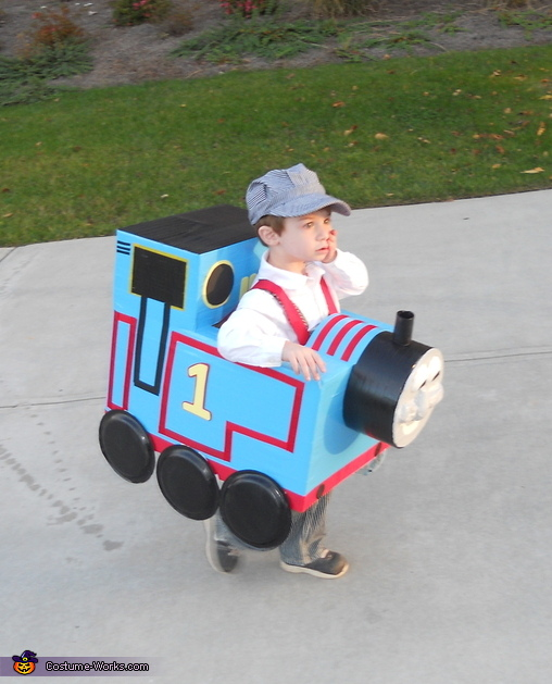 Thomas the Train - Homemade costumes for babies