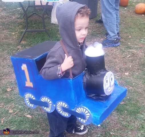 Xander as Thomas, Thomas the Train Costume