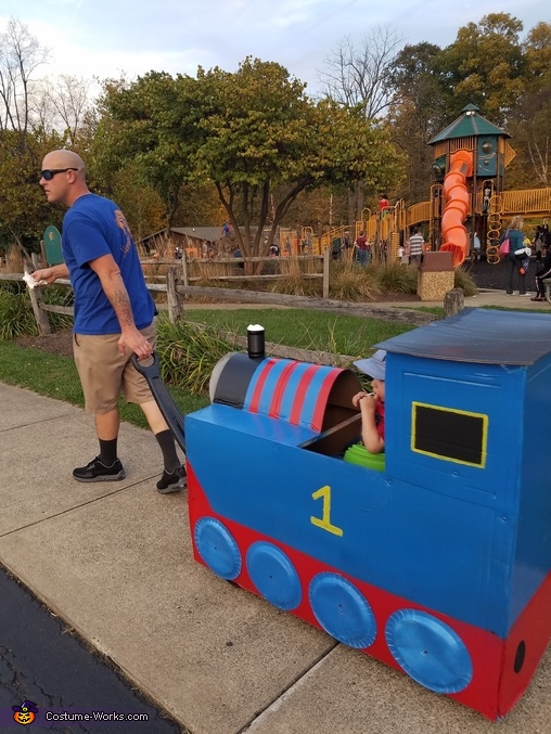 Chuggin along!!, Thomas The Train Costume