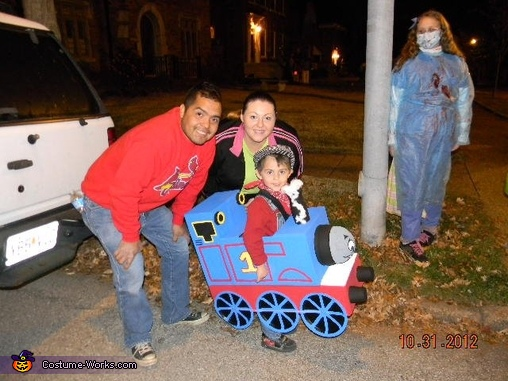 proud parents and 'creators', Thomas the Train Costume
