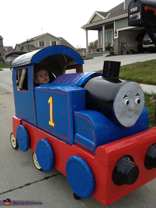 Closer view of the details, Thomas the Train & Driver Costume
