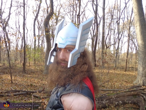 Close-up of me with my helmet on., Thor Odinson Costume