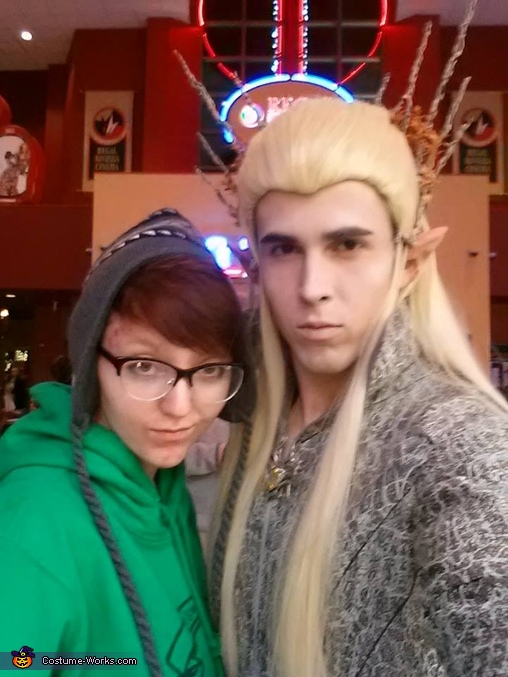 With one of my best friends at the premier of the last movie :D, Thranduil, King of Mirkwood Costume