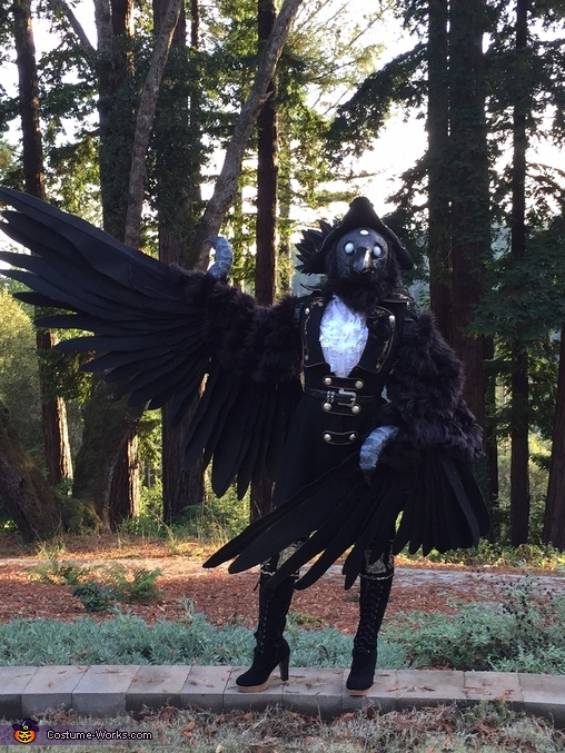 Full body, bowing, Three-Eyed Raven Costume