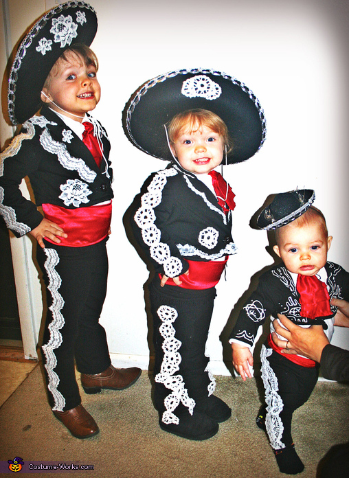 Three Amigos Family Homemade Costume