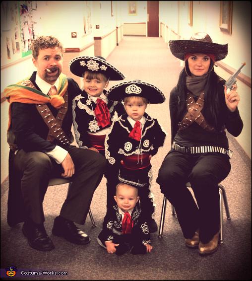Three Amigos Family Homemade Costume
