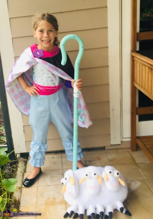 Bo Peep and her sheep BillGoatGruff, Three Generation Toy Story Costume