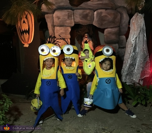 With Banana.., Three Little Minions Costume