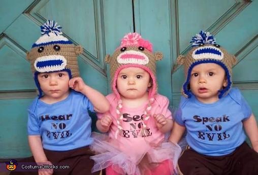 Three Little Monkeys Costume