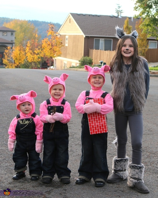 Three Little Pigs and Big Wolf Costume