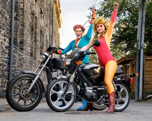 Photo by Raqui Brown, Cheetara and Tygra from ThunderCats Costume