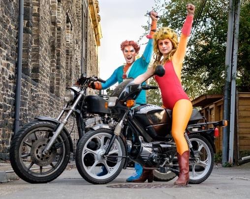 Photo by Raqui Brown, Cheetara and Tygra from ThunderCats Costume