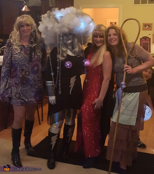 With my girlfriends, Thunderstorm Costume