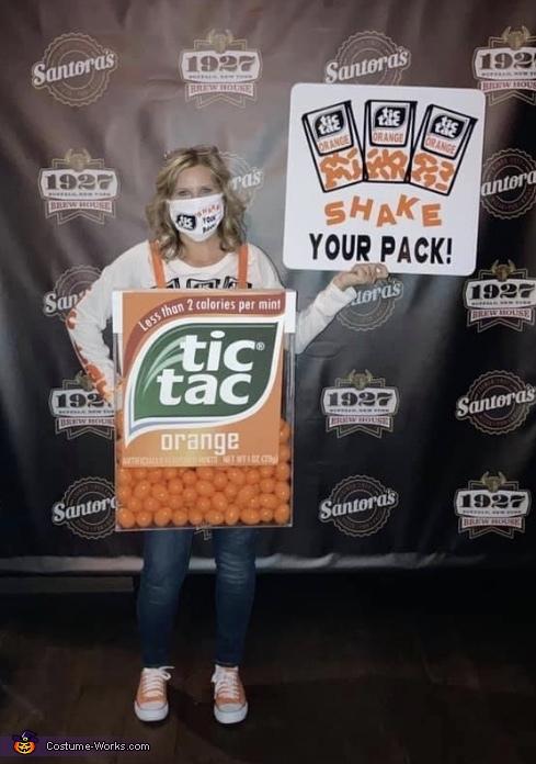 Orange Tic Tac, Tic Tac Shake Your Pack Costume