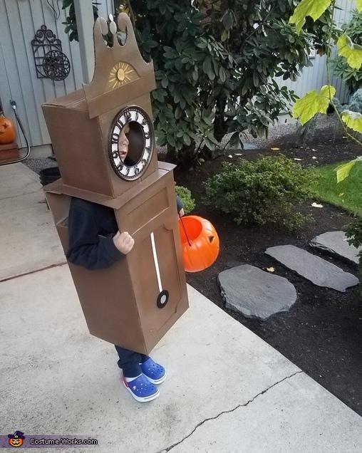 Tick Tock Grandfather Clock Homemade Costume