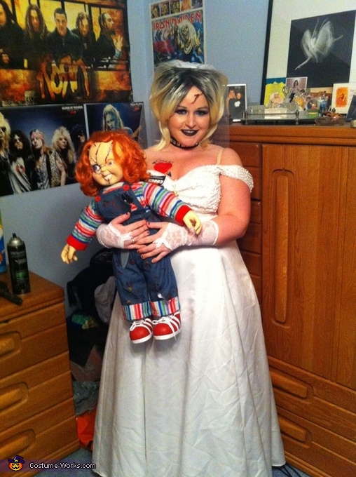 Tiffany Bride Of Chucky Costume http://www.costume-works.com/tiffany_bride_of_chucky-3.html