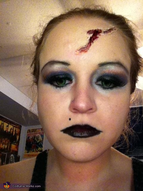 My make up with the green contacts., Tiffany, Bride of Chucky Costume