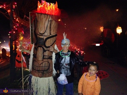 Tiki God Trick or Treating, Tiki God Costume