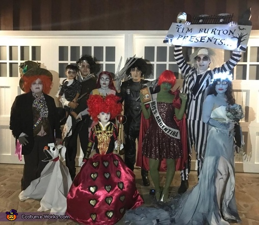 Tim Burton Movies Group Halloween Costume