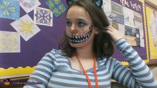 closeup, Tim Burton's Cheshire Cat Costume