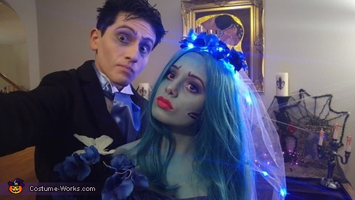 Emily and Victor, Tim Burton's The Corpse Bride Couple Costume
