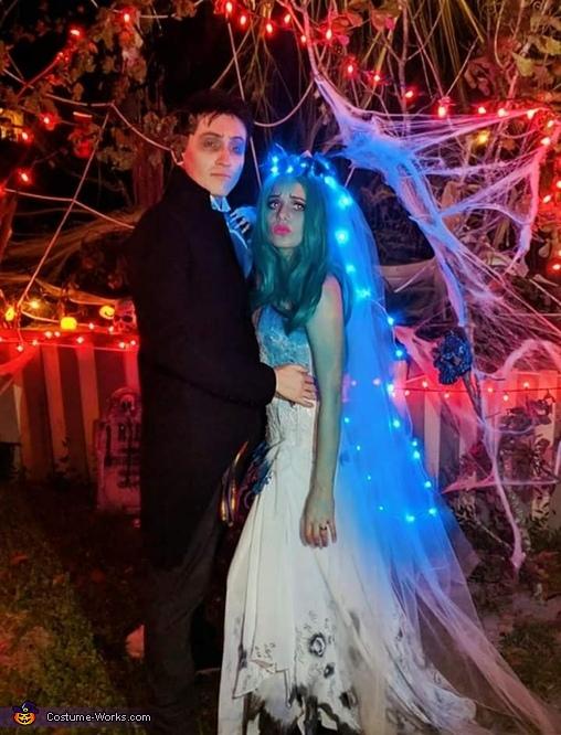 Tim Burton's The Corpse Bride Couple Homemade Costume