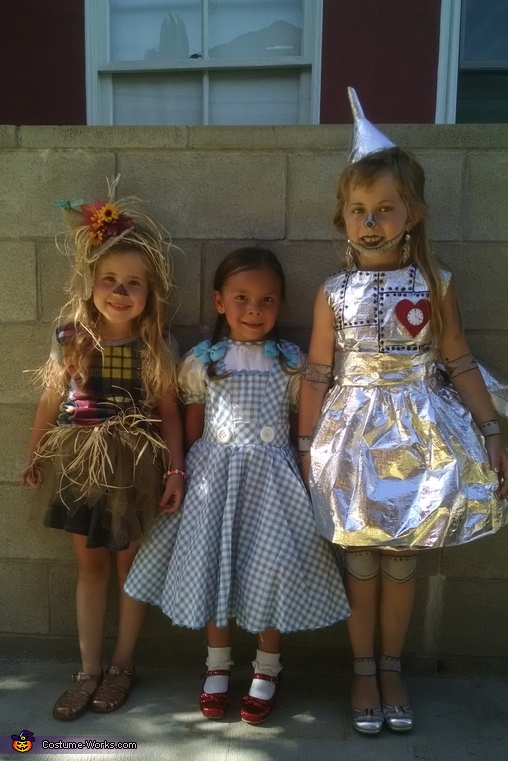 Tin Girl, Scarecrow and Dorothy Costume