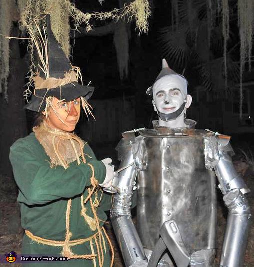 Tin Man and Scarecrow Homemade Costume