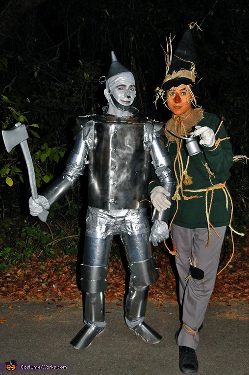 Tin Man and Scarecrow Homemade Costume