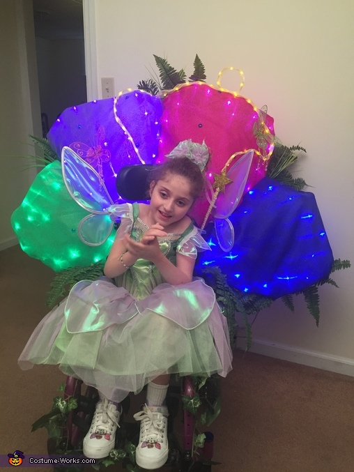 Tinkerbell in a Flower Costume