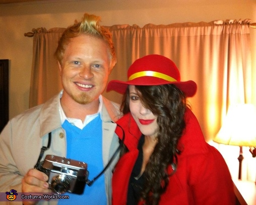 Tin-tin and Carmen Sandiego Costume