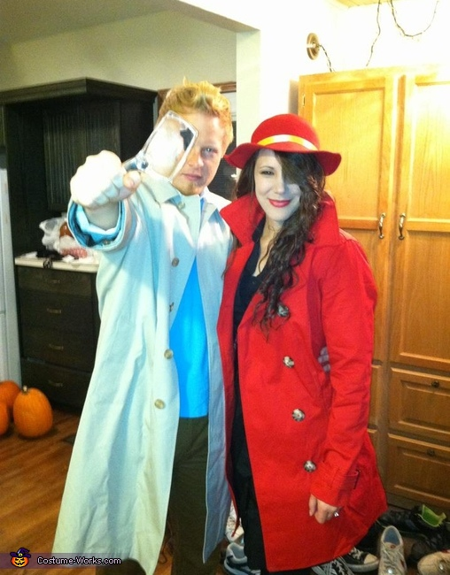 Tintin and Carmen Sandiego Couple Costume