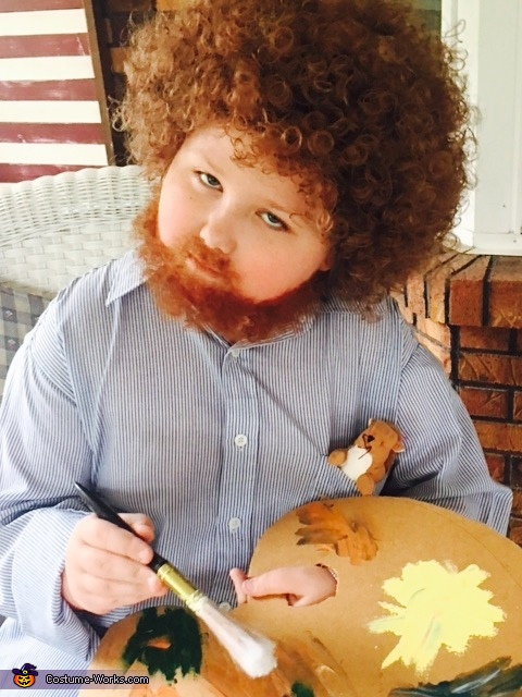 Tiny Bob Ross Costume