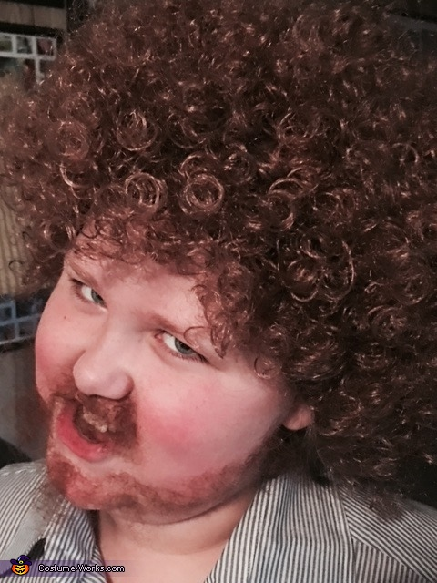 Bob Ross looks a bit creepy once the beard starts coming off., Tiny Bob Ross Costume
