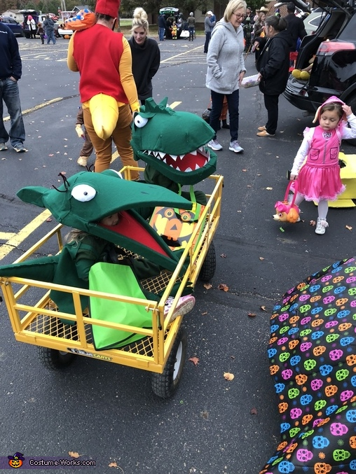 Tiny is closest, Tiny the Pteranadon from Dinosaur Train Costume