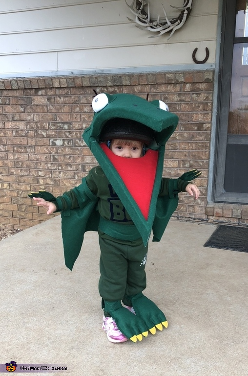 Wings out, Tiny the Pteranadon from Dinosaur Train Costume