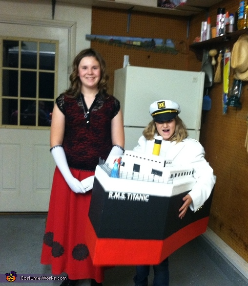 The Titanic and the Lovely Rose (my older daughter Codie), Titanic Costume