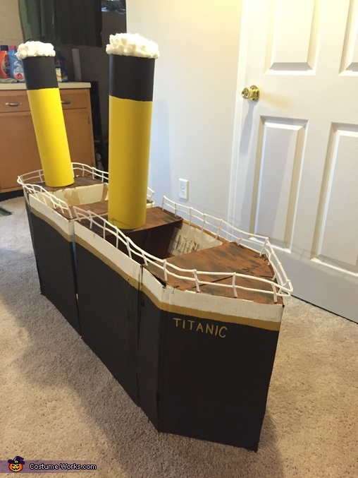 Finished Product Before Wearing, Titanic and Iceberg Costume