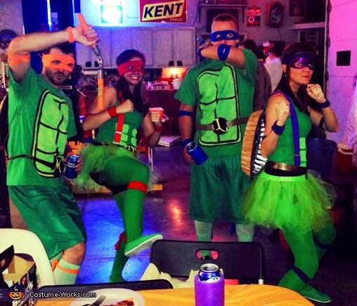 Mike, Brandi, Trace, and myself, TMNT Costume