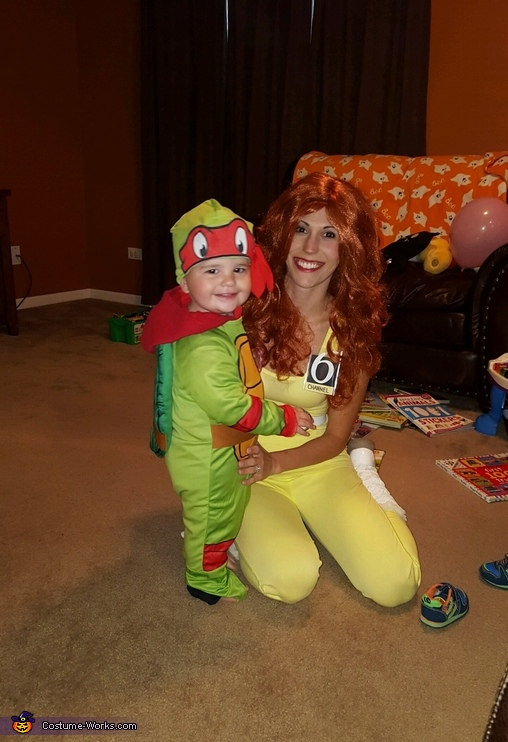 April with Raphael, TMNT Family: Casey Jones, April Oneil, and Raphael Costume