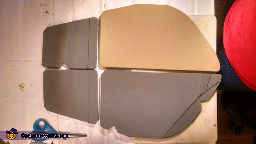 Front Shell EVA Foam wrapped in fabric, TMNT Leo Costume