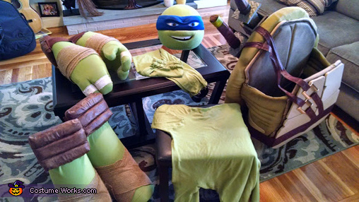Finished peices, TMNT Leo Costume