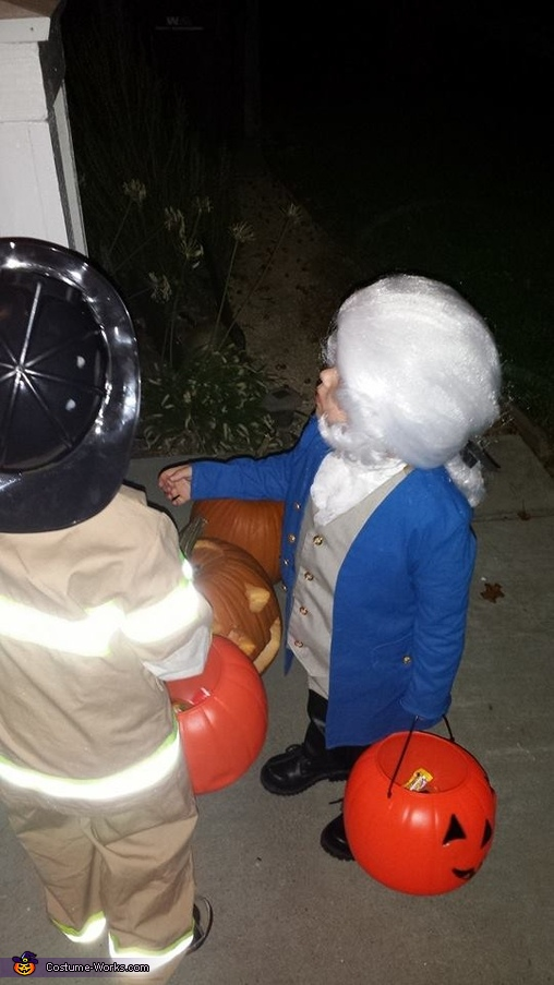 Trick or treat, Toddler George Washington Costume