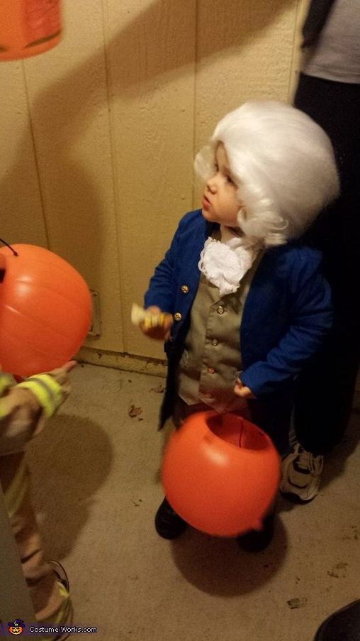 Thanks for the Candy, Toddler George Washington Costume